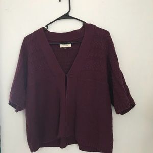Sweater shrug. Sleeves go to about elbow length